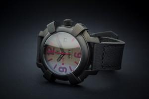 Reloj automatico unico. Serie all black colors - granate