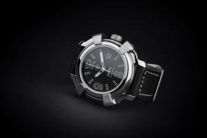 Reloj automatico acero pulido esfera negra