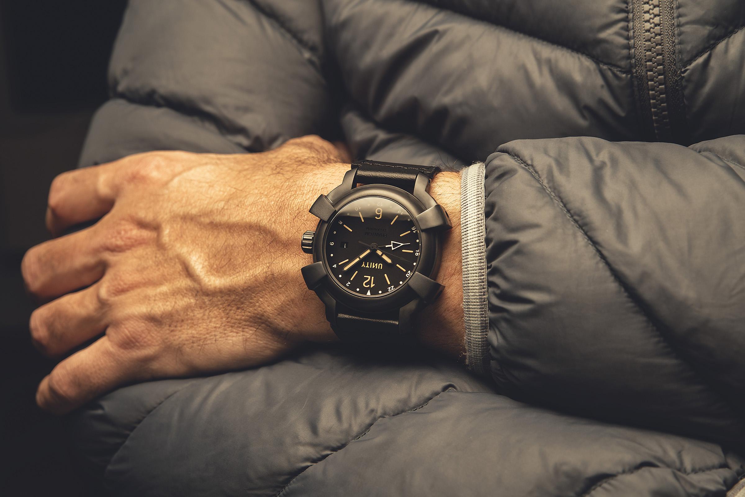 Foto reloj titanio DLC GMT