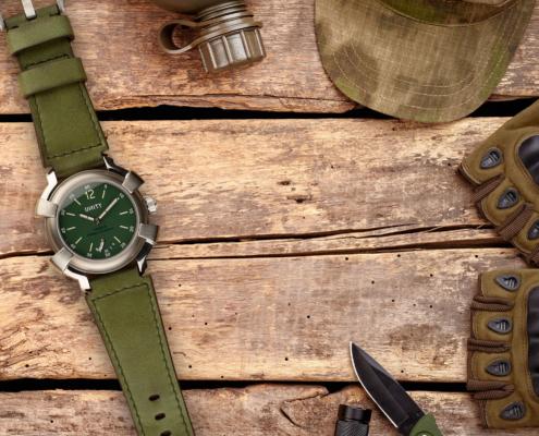 militar green watch