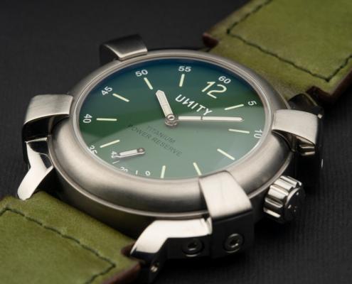 reloj esfera verde militar