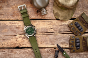 reloj verde militar