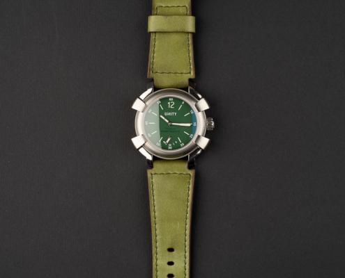 titanium green watch